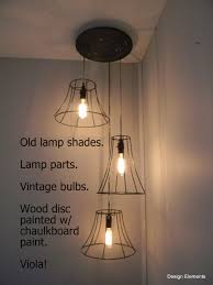 Light Write Lighting Design A Great Way To Use Old Lamp Shade Skeletons Write Messages