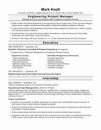 Technical Resume Format Pdf Unique Civil Engineering Collegeume