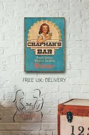 bar welcome retro personalised metal wall by gettingpersonalgifts on personalised metal wall art uk with laundry service metal wall plaque kitchen sign laundry room sign