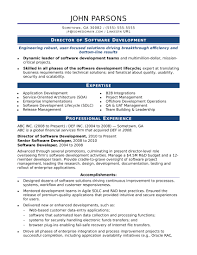 Sample Resume For An Experienced It Developer Monster Com