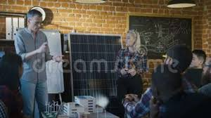 tech office alternative. Tech Office Alternative. Modren People Collaborating On Alternative Manufacture Project Stock Footage Video Of