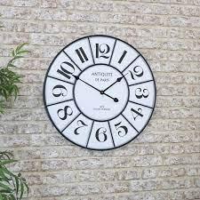 large black white vintage wall clock