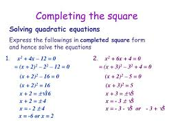 ppt completing the square powerpoint