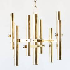 mid century gilded chandelier from italy