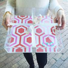 personalized gift personalized tray lucite tray katie kime austin