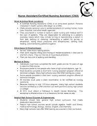 Cna Job Duties Resume Cna Resume Objectives Nursing Assistant Objective Samples List Of 22