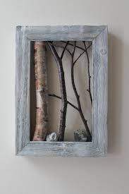 White Birch Bark Wall Hanging, Framed Tree Branch, Cottage Decor, Birch Log  Cabin Decor, Twig Art, Rustic Art, Birch Wall Decor, Nature Art