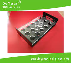 12 shot glass acrylic display holder tray