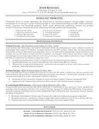Sample Resume Principal Position Sidemcicek Com