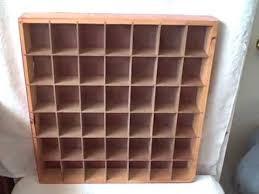 shot glass display case holder wooden used holds 42 glasses