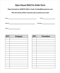 Products Order Form Products Order Form Template Charlotte Clergy Coalition