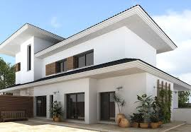 charming paint color in white for second floor house as exterior house  design