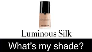 Find Your Shade Armani Luminous Silk Foundation