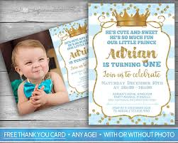 prince invitation little first birthday boy firs card blue gold wordi baby cute invitations covers