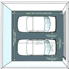 what are the dimensions of a one car garage standard one car garage size standard garage