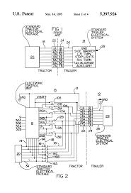patent us5397924 truck tractor and trailer electrical patent drawing
