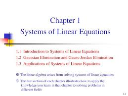chapter 1systems of linear equations