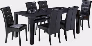 lpd monroe black high gloss dining table with 6 chair