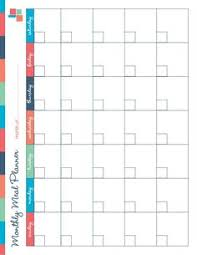 monthly meal planner template monthly menu plan printable monthly menu planner monthly menu and
