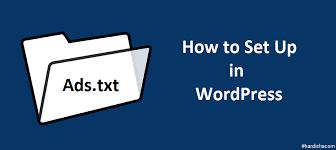 ads txt files manage in wordpress