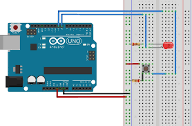 how to use the arduino s digital i o as you can see from the diagram above we are now using two arduino digital i o pins an led is connected to pin 8 which is configured as an output