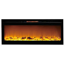astoria 60 inch built in ventless heater recessed wall mounted electric fireplace log