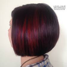Short Bob Hairstyles With Red Highlights