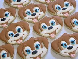dog faces ceramic bathroom accessories shabby chic: puppy face decorated sugar cookies birthday party favors animal theme pets dog puppies party for child custom cookies