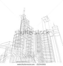 architectural drawings of skyscrapers. Brilliant Skyscrapers Skyscraper Buildings Sketch To Architectural Drawings Of Skyscrapers
