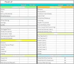 Sample Home Budget Template