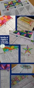 algebra coloring activities bundle solving equationsalgebra equationssystems of equationsgraphing linear