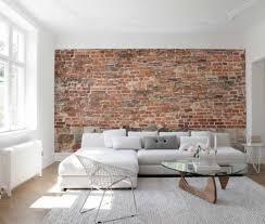 living room brick wall interior design