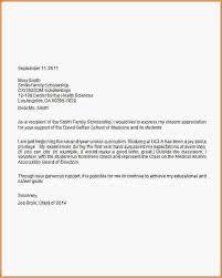 sample thank you letter for scholarship scholarship thank you letter for homescience
