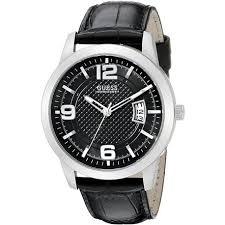 w0494g6 black watch 43mm 10 guess w0494g6 men s watch black