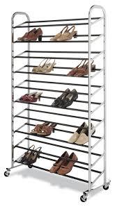 Amazon.com: Whitmor 50-Pair Shoe Tower Chrome with Wheels: Home & Kitchen