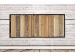 reclaimed wood wall art frame wood wall