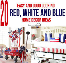 20 red white and blue home decor ideas