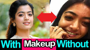 with and without makeup looks of
