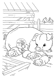 Cute Pigs Coloring Page For Kids