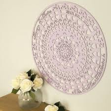large wooden mandala wall art