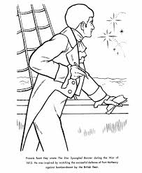 Small Picture USA Printables Francis Scott Key Coloring Pages Famous