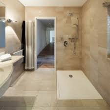 walk in showers are all generally created to be floor level removing the need to climb over anything when entering or exiting the shower