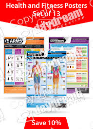 Health And Fitness Posters Set Of 13