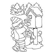 Kleurplaat Winter Vol Sneeuwpret Seizoen 3214
