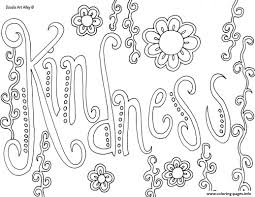 Small Picture Word Kindness Coloring Pages Printable Within Kindness Pages glumme