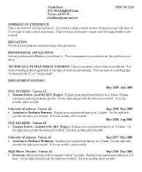 College Student Resume Examples Classy College Education On Resume Examples Combined With Sample Resume For