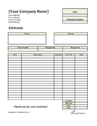 free estimates forms estimate printable forms templates free estimates forms best photos of painting estimate template
