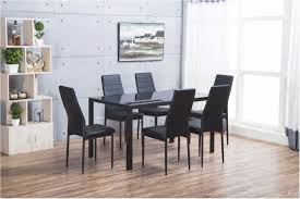 amazing designer rectangle black glass dining table 6 chairs set fashionable model glass modern dining room furniture