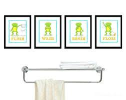 kids bathroom wall decor. Frog Bathroom Decor Bright And Modern Kids Wall Best Ideas Images . D