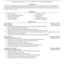Office Manager Resume Objective Create My Resume Dental Office